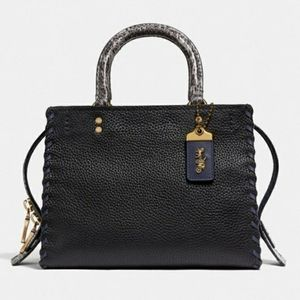 New Coach Exotic Python Rogue 25 Whipstitch